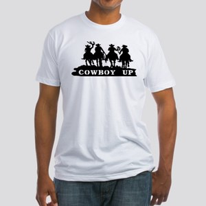Cowboy Up Fitted T-Shirt