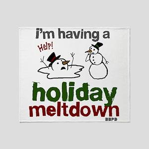 Holiday Meltdown Throw Blanket