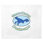 T-Rex Hates Push-ups 2 King Duvet