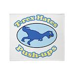 T-Rex Hates Push-ups 2 Throw Blanket