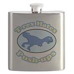 T-Rex Hates Push-ups 2 Flask