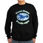 T-Rex Hates Push-ups 2 Sweatshirt (dark)