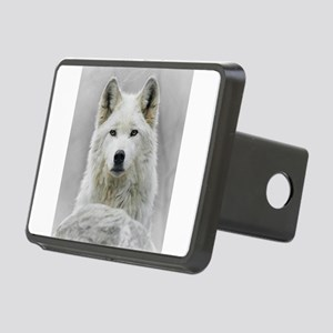 White Wolf Rectangular Hitch Cover