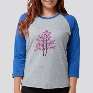 pink_tree Womens Baseball Tee