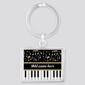 Personalized Piano and musical notes Landscape Key