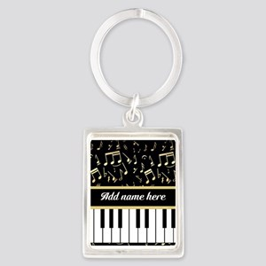 Personalized Piano and musical notes Portrait Keyc
