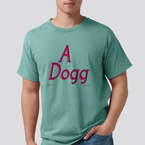 a dogg red Mens Comfort Colors Shirt