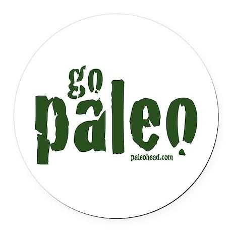 Go Paleo Round Car Magnet