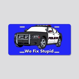 Police Fix Stupid Aluminum License Plate