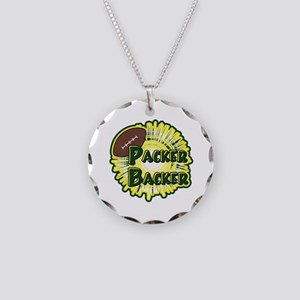 Packer Backer Necklace Circle Charm