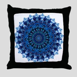 Dotty Love Mandala Kaleidoscope Throw Pillow