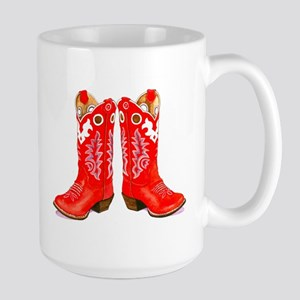 Large Red Boots Mug