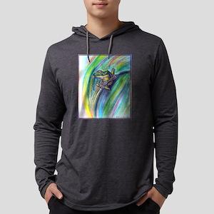 Tree frog! Wildlife art! Mens Hooded Shirt