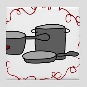 Cooking Pots Tile Coaster