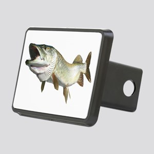 Toothy Musky Rectangular Hitch Cover