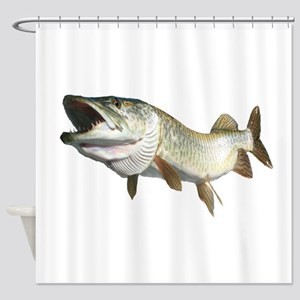 Toothy Musky Shower Curtain