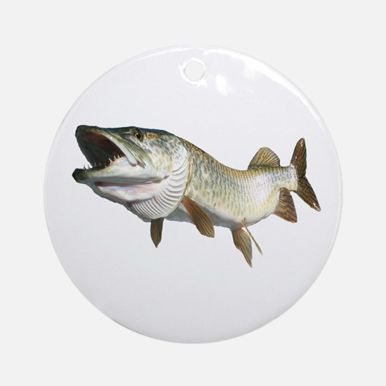 Toothy Musky Ornament (Round)
