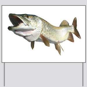 Toothy Musky Yard Sign