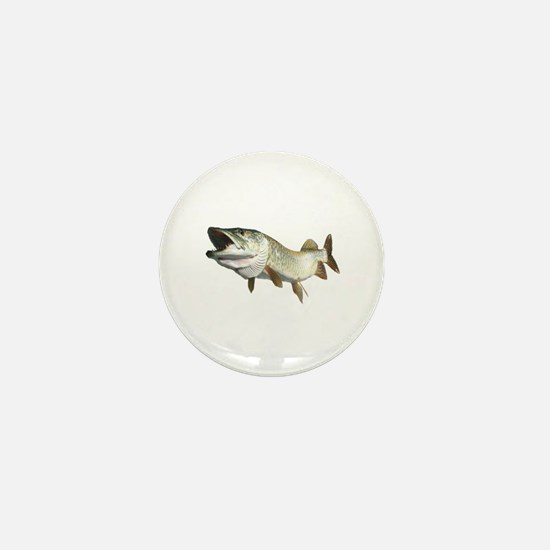 Toothy Musky Mini Button