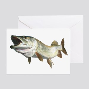 Toothy Musky Greeting Card
