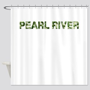 Pearl River Vintage Camo Shower Curtain