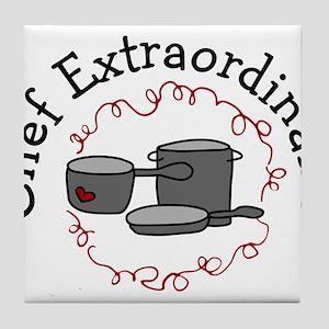 Chef Extraordinaire Tile Coaster