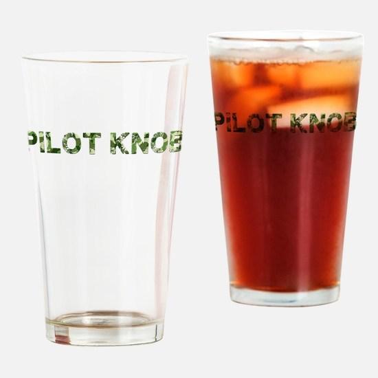 Pilot Knob, Vintage Camo, Drinking Glass