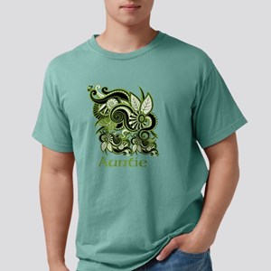 Auntie, Green Swirl Desi Mens Comfort Colors Shirt