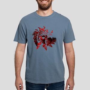 fib art bats red design  Mens Comfort Colors Shirt