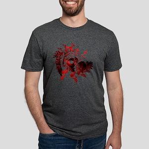 fib art bats red design onl Mens Tri-blend T-Shirt