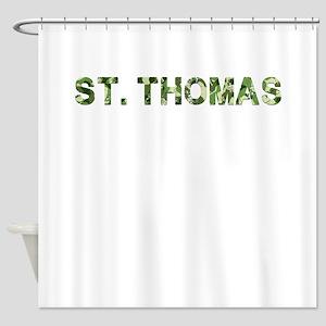 St. Thomas, Vintage Camo, Shower Curtain