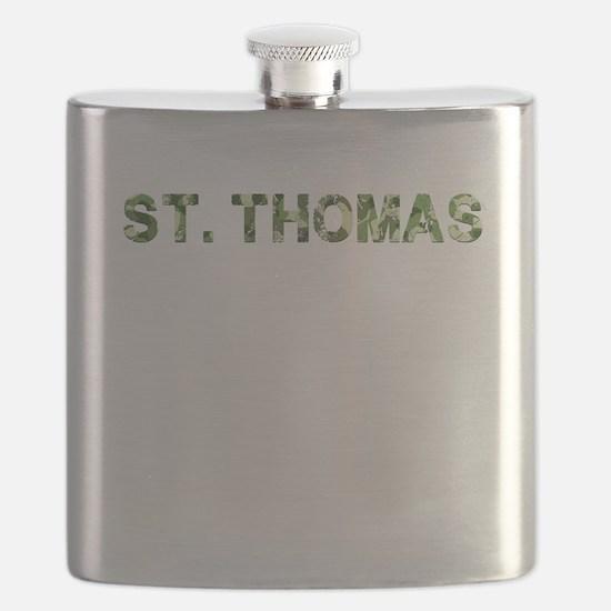 St. Thomas, Vintage Camo, Flask