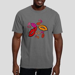 Fibonacco Lips Button.pn Mens Comfort Colors Shirt