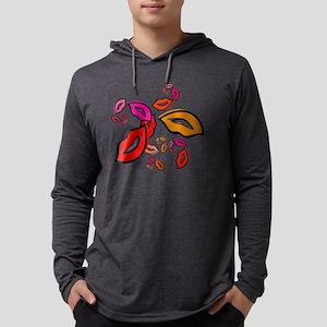 Fibonacco Lips Button Mens Hooded Shirt
