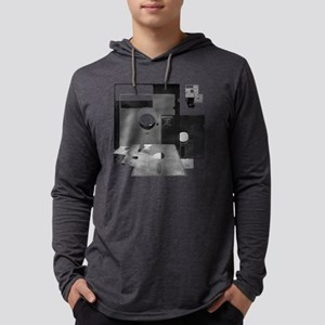 floppy disk geek BW t shirt Mens Hooded Shirt