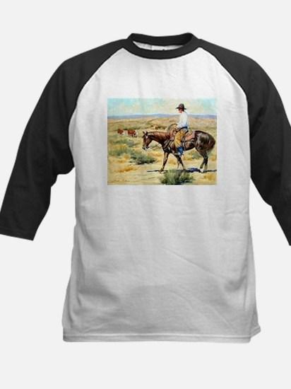 Cowboy Painting Kids Baseball Jersey