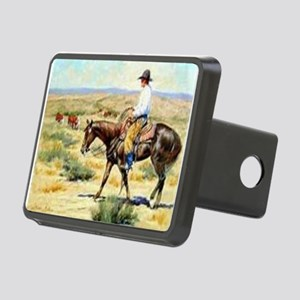 Cowboy Painting Rectangular Hitch Cover