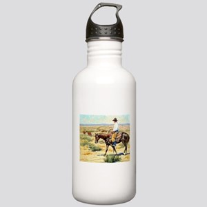 Cowboy Painting Stainless Water Bottle 1.0L