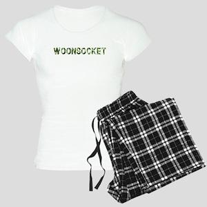 Woonsocket, Vintage Camo, Women's Light Pajamas