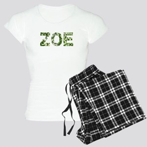 Zoe, Vintage Camo, Women's Light Pajamas