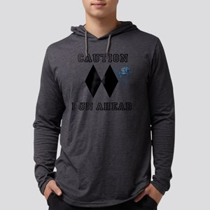 Double black diamond Mens Hooded Shirt