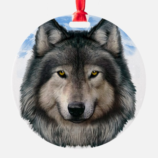 Wolf Head 2 Ornament