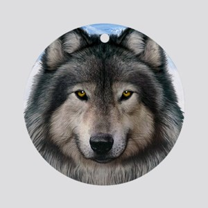 Wolf Head 2 Ornament (Round)