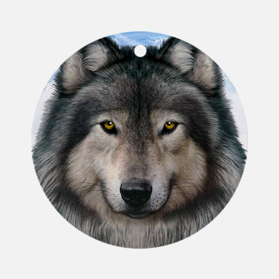 Wolf Head 2 Ornament (Round)