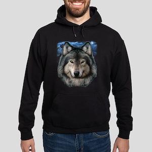 Wolf Head 2 Hoodie (dark)
