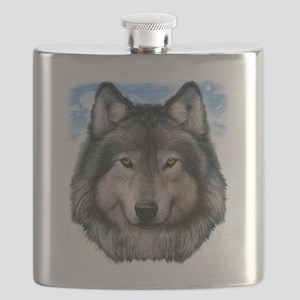 Wolf Head 2 Flask
