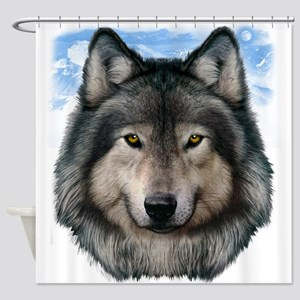Wolf Head 2 Shower Curtain