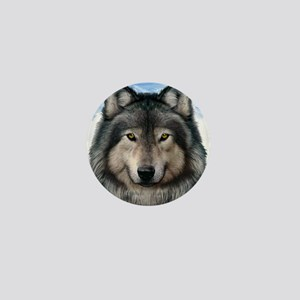Wolf Head 2 Mini Button