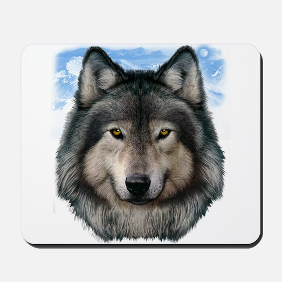 Wolf Head 2 Mousepad