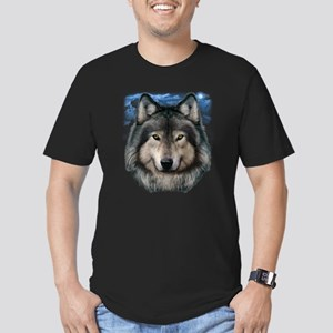 Wolf Head 2 Men's Fitted T-Shirt (dark)